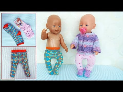 Колготки из носка для куклы Беби Бон. Socks Tights For Baby Bebon Dolls