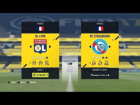 Lyon - Strasbourg [FIFA 17] | Ligue 1 Conforama 2017-2018 (1ère Journée) | IA Vs. IA