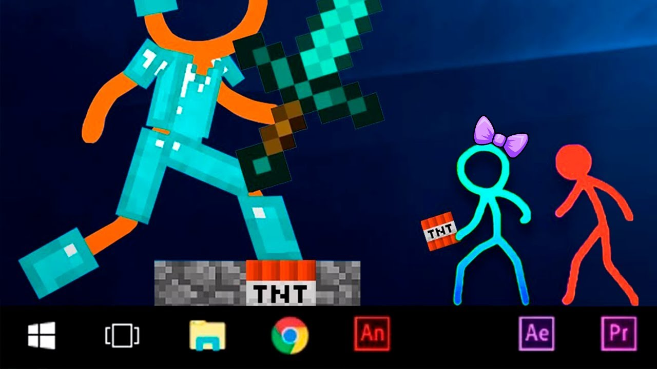 Stickman vs Minecraft Animation - Animation vs. Minecraft Shorts Alan Becker AVM Shorts Fan Made 13+