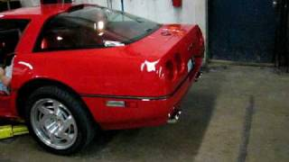 1990 Corvette ZR1 with new Corsa exhaust, first start