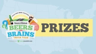 Win Prizes on the Buzztime Beers & Brains Trivia Tour