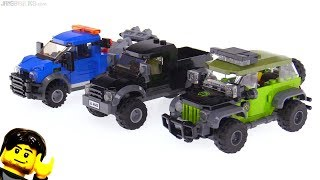 Custom LEGO Jeep-style offroader + truck MOCs