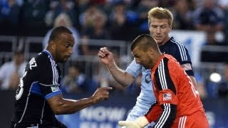 HIGHLIGHTS: SJ Earthquakes vs. Sporting KC | August 18th, 2013