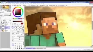 Как создать арт с помощью программы Paint Tool Sai и некоторые функции программы Paint Tool Sai
