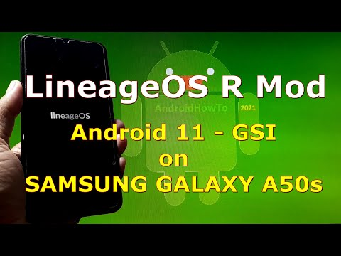 LineageOS R Mod Android 11 for Samsung Galaxy A50s GSI ROM