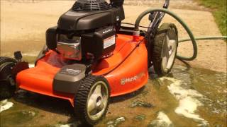 Husqvarna mower deck cleaning