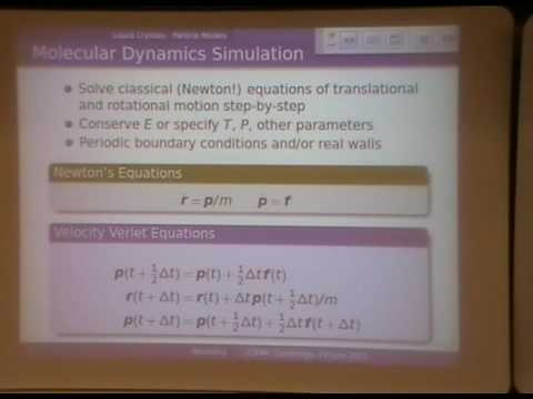 Numerical Modelling of Liquid Crystals and Nematic Colloids, Tutorial/Overview - Michael Allen