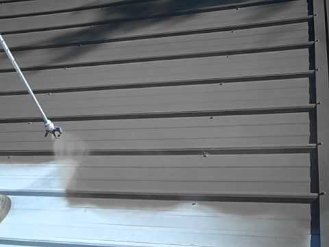 Nutech Paint Metal Roof Restoration Alabama 1st Color Coat Avi