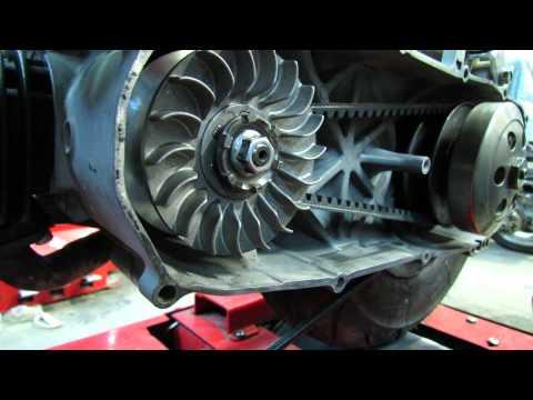 Scooter CVT drive belt adjustment instruction