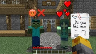 Minecraft MARK THE FRIENDLY ZOMBIE FINDS A GIRLFRIEND FIND LOVE IN MINECRAFT !! Minecraft ...