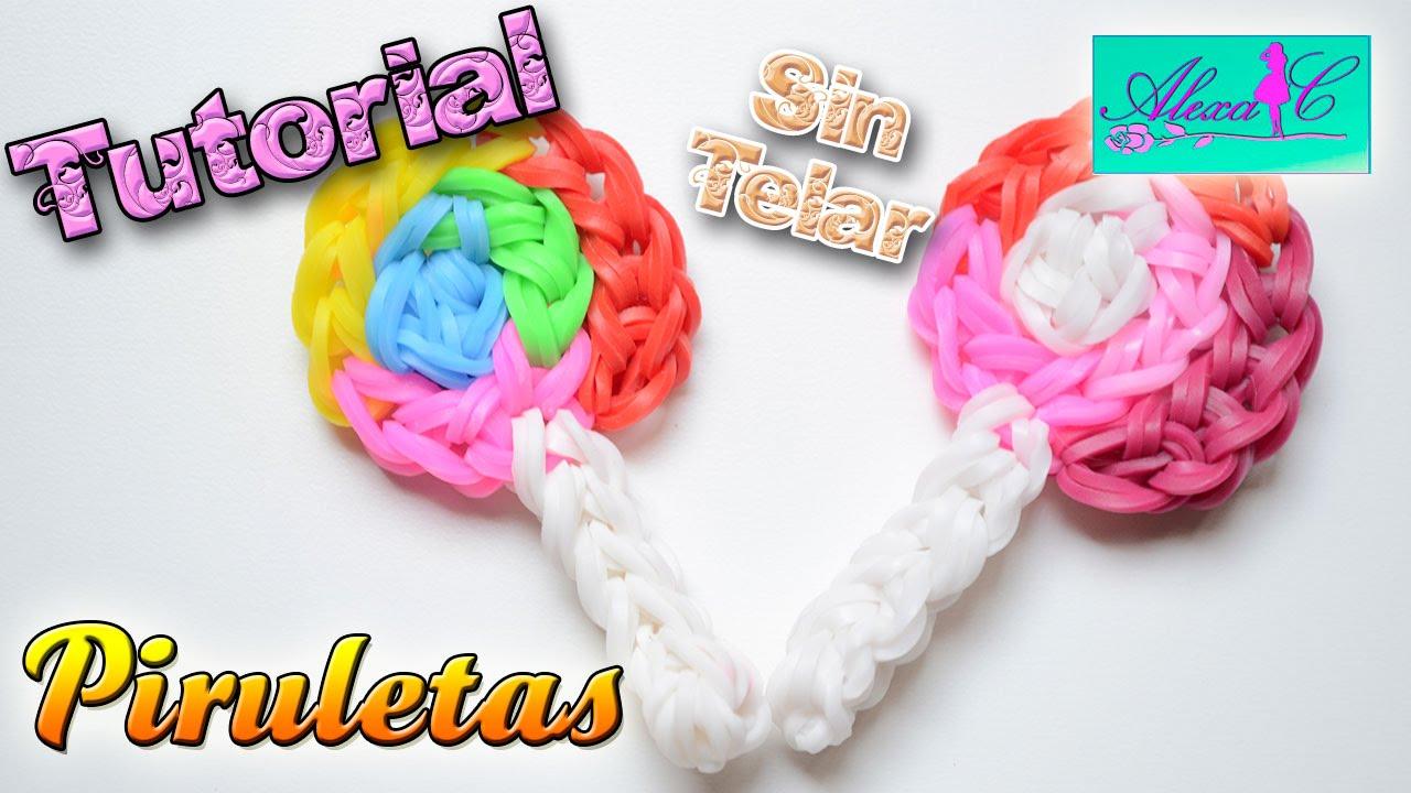 4641781e5bdd ♥ Tutorial: Piruletas de gomitas (sin telar) ♥