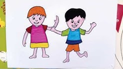 Cara Menggambar Dan Mewarnai Kereta Bayi Untuk Anak Menggunakan