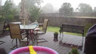 Wichita Kansas Hail Storm; Smashes Glass Table