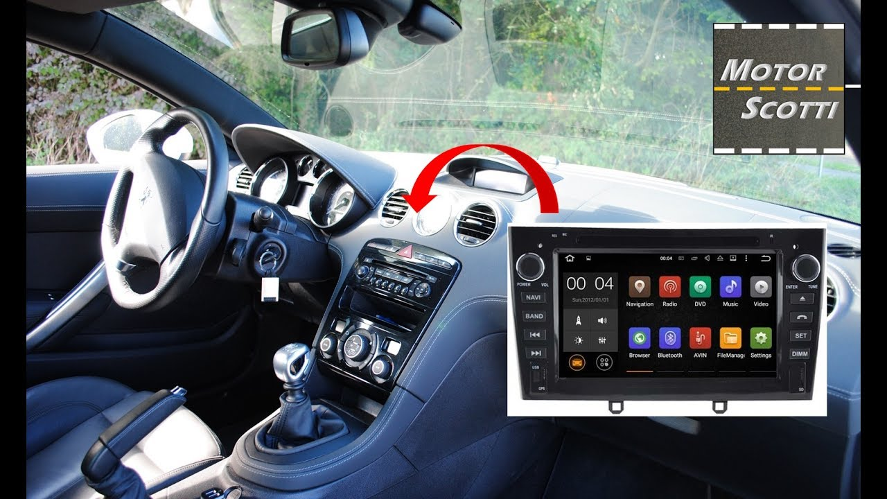 installing an android color screen autoradio peugeot rcz [ 1280 x 720 Pixel ]