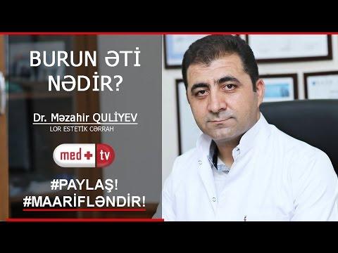 BURUN ETI NEDIR - DR MEZAHIR QULIYEV LOR ESTETIK CERRAH