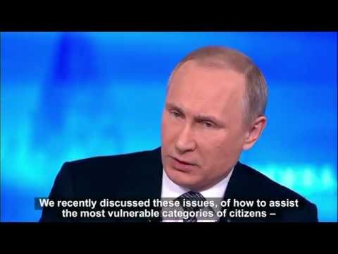 Putin's lies during annual Q&A session 2016