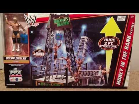 WWE ACTION INSIDER: Money In The Bank Playset ToysRus Exclusive W/ Dolph Ziggler Wrestling Figure