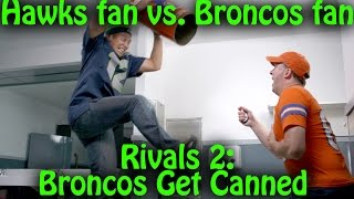 Seahawks-Broncos: trash talking fans get into an EPIC fight (Rivals 2)