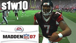GO MIKE VICK - MADDEN 2007 FALCONS FRANCHISE VS BROWNS S1W10