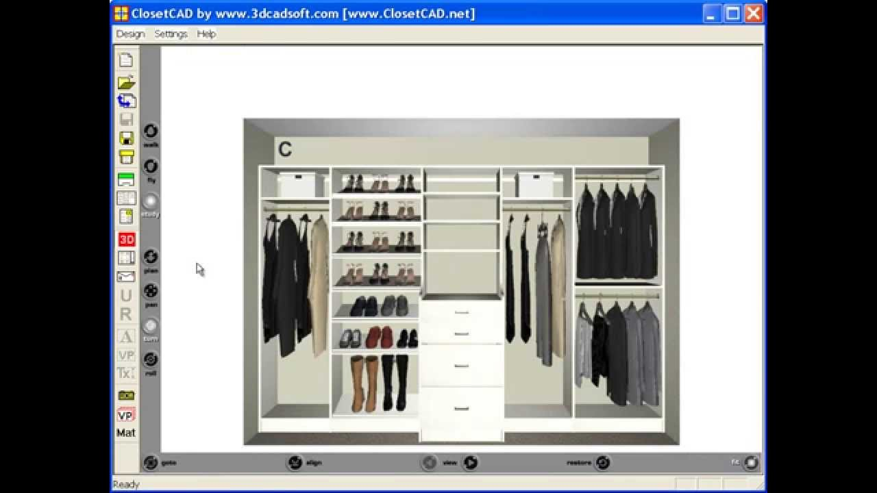 Reach-in Closet Design - YouTube