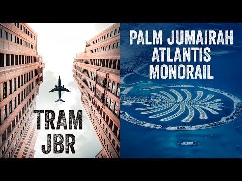 Dubai Monorail to Atlantis, Palm Jumeirah | Dubai Tram | #JBR #Monorail