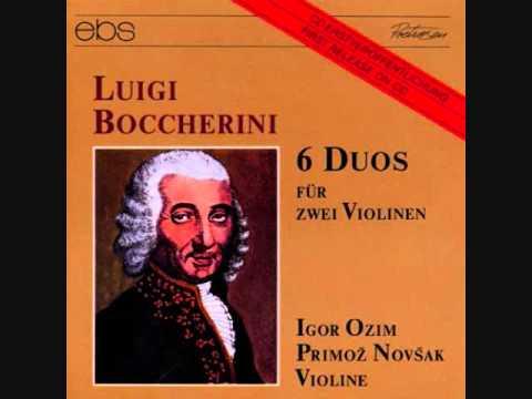 Boccherini: 6 Violin Duos op 5 no 1 - 6