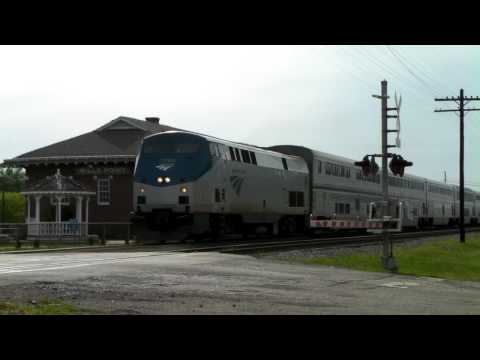 Amtrak 73 (Texas eagle) in Wills Point, Tx. 04/03/2010 ©