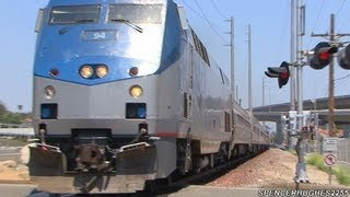 Amtrak Trains (featuring P42DC #94) in Laguna Niguel, CA (May 4th, 2013)