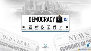 Democracy 3: Social Engineering gameplay (PC Game, 2014)
