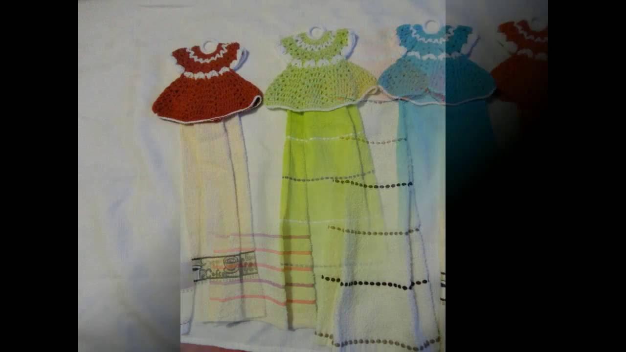Vestidos tejidos para toallas parte 2 youtube for Ganchos para toallas de bano