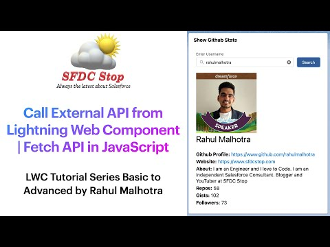 Call External API from Lightning Web Component | Fetch API in JavaScript