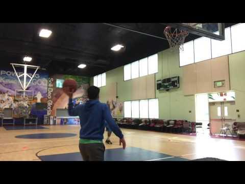HoopSphere Shooting Coach working on his shot