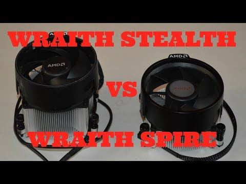 Ryzen Wraith Stealth vs Wraith Spire CPU cooler Review and comparison