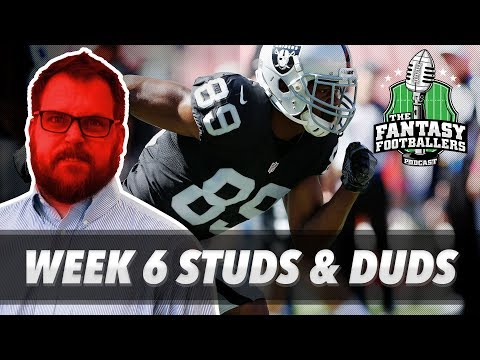 Fantasy Football 2017 - Week 6 Studs & Duds, Rising Stars, Coopin' - Ep. #458