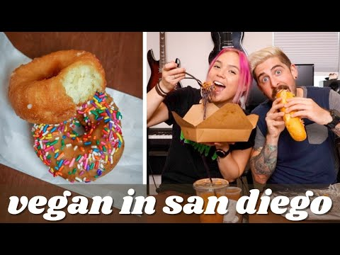 Eating at vegan restaurants in San Diego for a full day | Plant Power Fast Food, Plumeria, & More