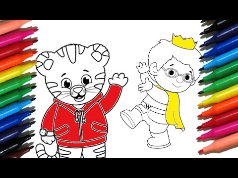 Coloring Pages DANIEL TIGER How to paint Daniel Tiger & Prince ...