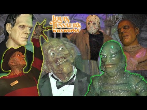 Spooky Wax Museum with Freddy Krueger, Frankenstein, Mummy, Taylor Swift| Louis Tussaud's | DavidsTV