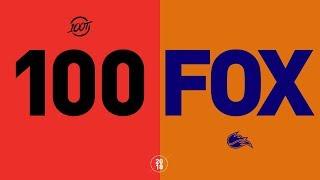 100 vs. FOX - NA LCS Week 8 Match Highlights (Summer 2018)