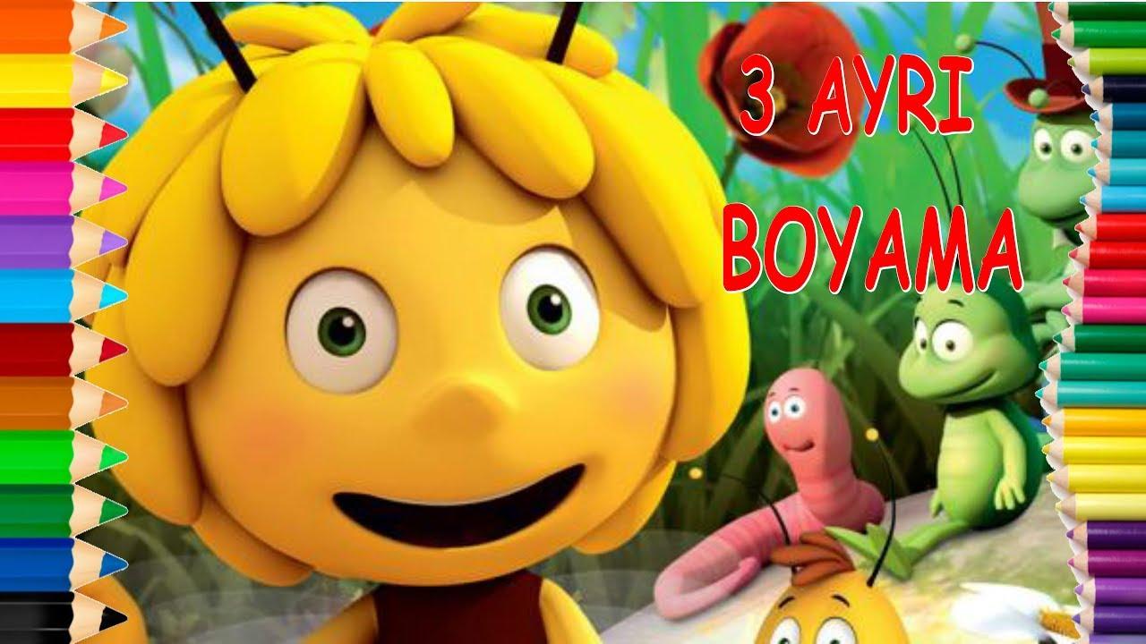 Ari Maya Cizgi Film Boyama Oyunu Harika Boyama Sayfasi Maya The