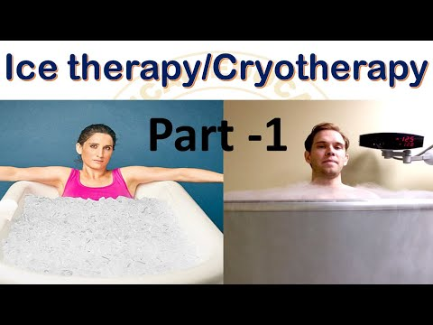 Ice Therapy / Cryotherapy  in Hindi part 1