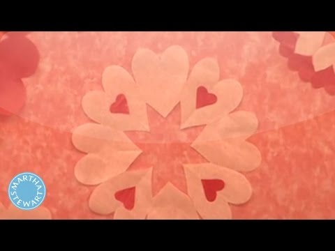Heart Shaped Doilies For Valentine S Day Martha Stewart Youtube