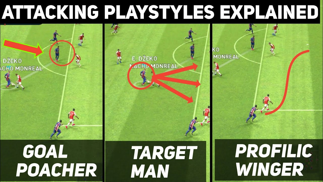 All Attacking Playstyles Explained with Gameplay | PES 2019 Mobile