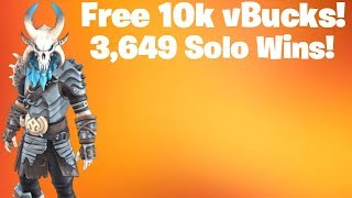 10K Vbucks Giveaway - 3649 Solo Wins! FORTNITE LIVE STREAM