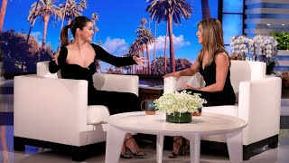 "Guest host jennifer aniston welcomed selena gomez, who gushed over the former ""friends"" star and her character rachel green. also divulged that after ..."