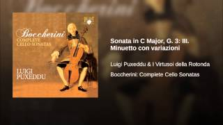 Sonata in C Major, G. 3: III. Minuetto con variazioni
