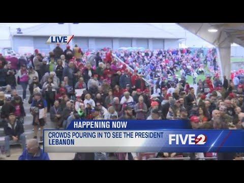 Trump crowds in line - 5:30 pm