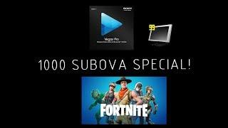 1000 SUBOVA SPECIAL! - Kako Editati Fortnite? + snimanje