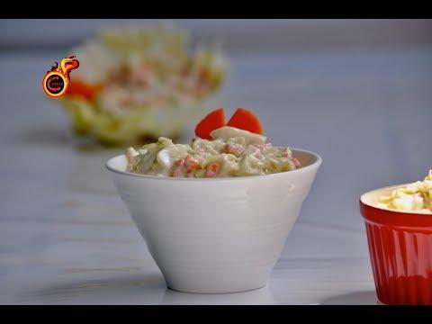 Easy Tasty Homemade Coleslaw ||ഈസി ആയി കോൾസ്ലോ വീട്ടിൽ എങ്ങിനെ തയ്യാറാക്കാം ?||Ep:414