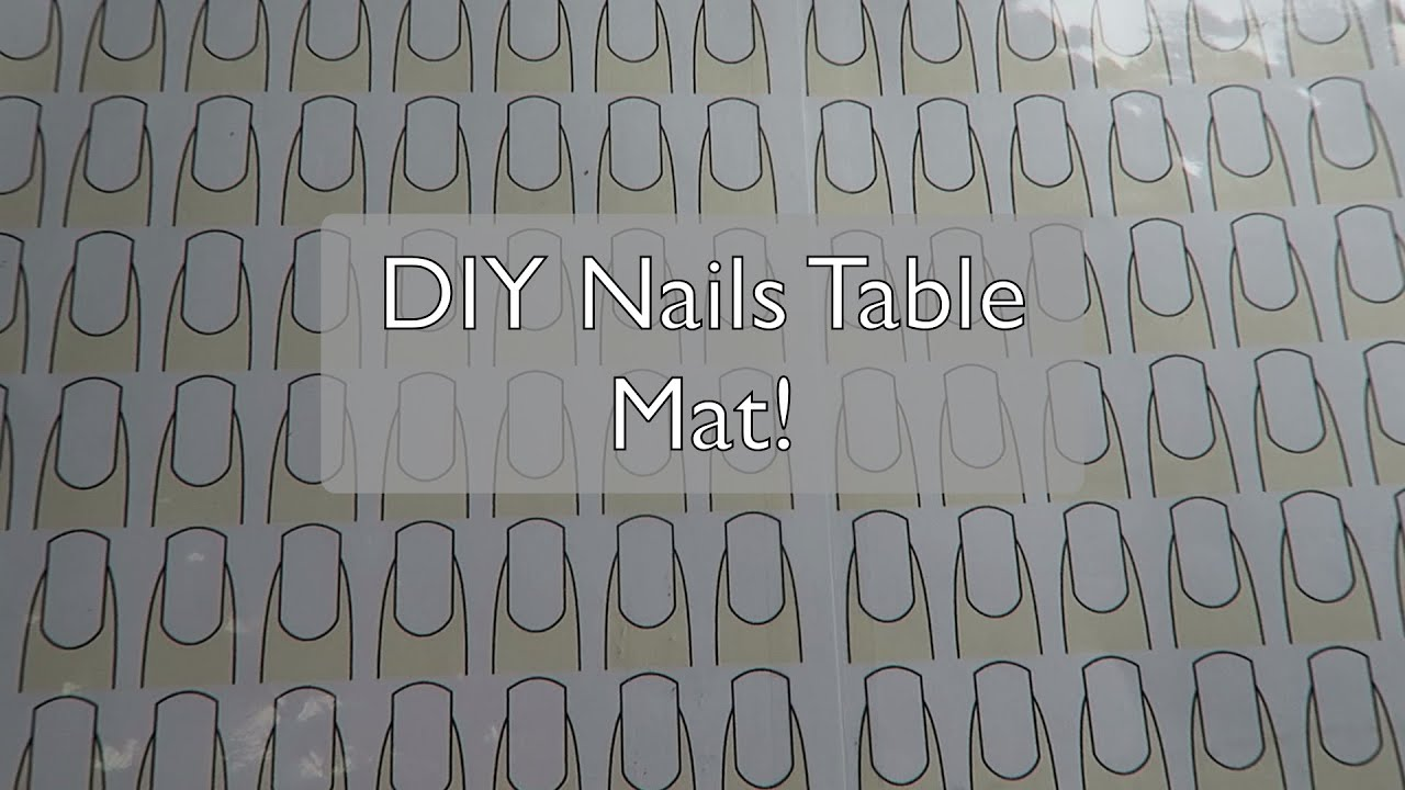 Diy Nail Desk How To Diy Nail Table Mat Youtube