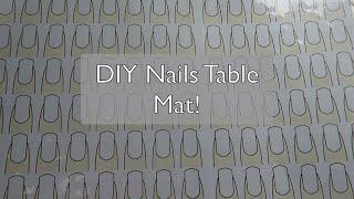 How to DIY Nail Table Mat